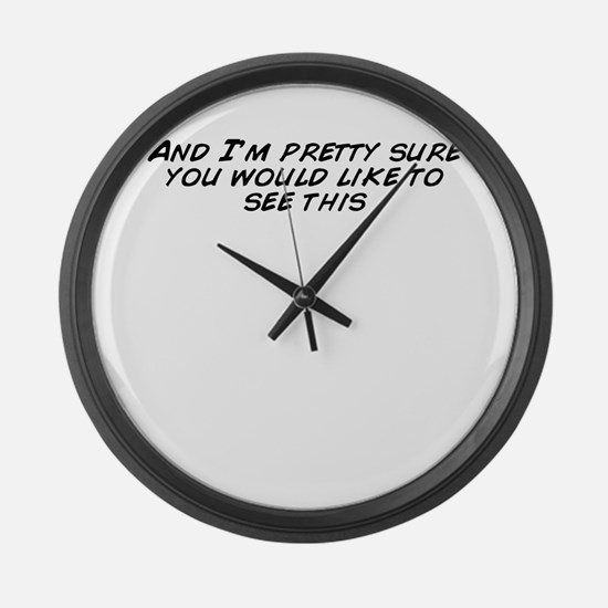 Cool Im pretty Large Wall Clock