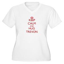 Keep Calm and HUG Trevon Plus Size T-Shirt