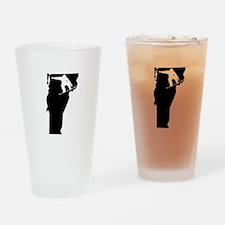 Vermont Snowboarder Drinking Glass