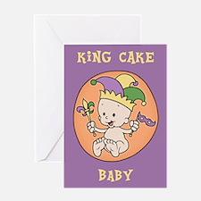 King Cake Baby Greeting Card