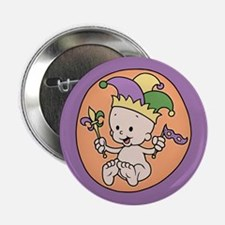 """King Cake Baby 2.25"""" Button"""