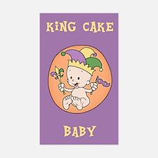 King Cake Baby Decal