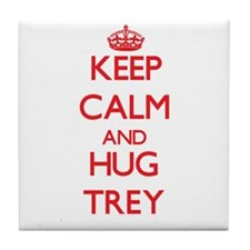 Keep Calm and HUG Trey Tile Coaster