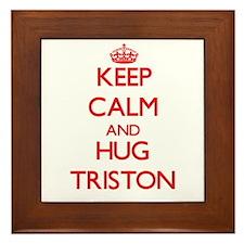 Keep Calm and HUG Triston Framed Tile