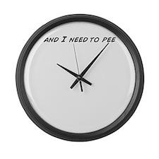 Funny Pee Large Wall Clock