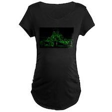 Kart Racer in Green Maternity T-Shirt