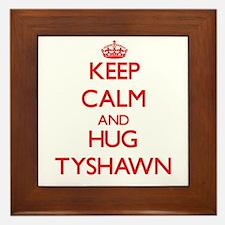 Keep Calm and HUG Tyshawn Framed Tile