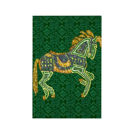 Jewel Art Horse Rectangle Magnet