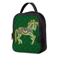 Jewel Art Horse Neoprene Lunch Bag