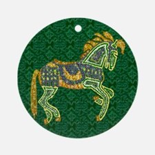 Jewel Art Horse Ornament (Round)