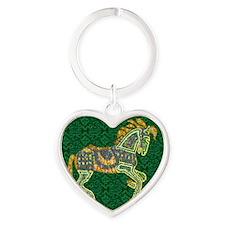 Jewel Art Horse Heart Keychain