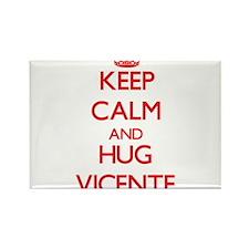Keep Calm and HUG Vicente Magnets