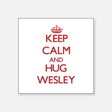Keep Calm and HUG Wesley Sticker