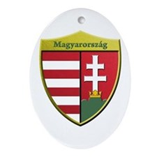 Hungary Metallic Shield Ornament (Oval)