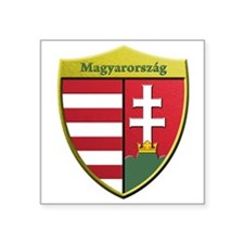 Hungary Metallic Shield Sticker