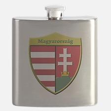Hungary Metallic Shield Flask