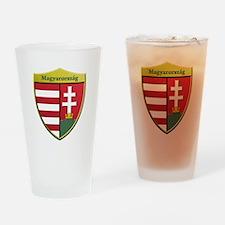 Hungary Metallic Shield Drinking Glass