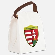 Hungary Metallic Shield Canvas Lunch Bag