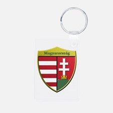Hungary Metallic Shield Keychains