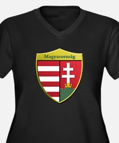 Hungary Metallic Shield Plus Size T-Shirt