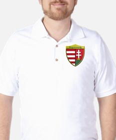 Hungary Metallic Shield Golf Shirt