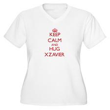 Keep Calm and HUG Xzavier Plus Size T-Shirt