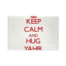 Keep Calm and HUG Yahir Magnets