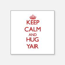 Keep Calm and HUG Yair Sticker