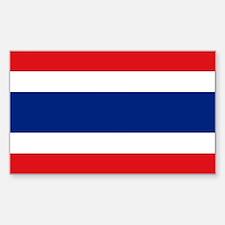 Thailand Flag Sticker (Rectangle)