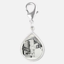 NY Broadway Times Square - Silver Teardrop Charm