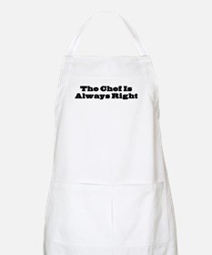 Chef Is Always Right BBQ Apron