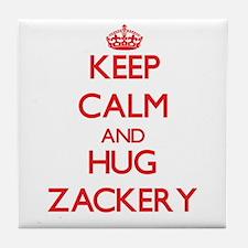 Keep Calm and HUG Zackery Tile Coaster