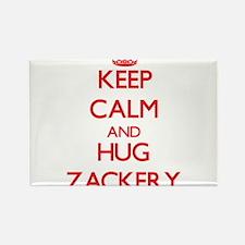 Keep Calm and HUG Zackery Magnets