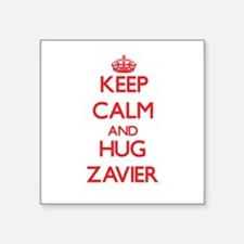 Keep Calm and HUG Zavier Sticker