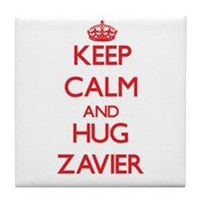 Keep Calm and HUG Zavier Tile Coaster