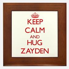 Keep Calm and HUG Zayden Framed Tile