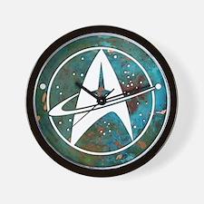 Star Trek logo Steam Punk Copper Wall Clock