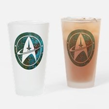 Star Trek logo Steam Punk Copper Drinking Glass