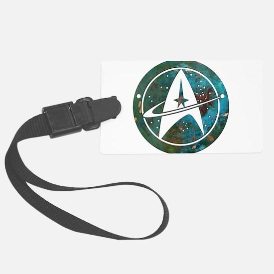 Star Trek logo Steam Punk Copper Luggage Tag