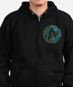 Star Trek logo Steam Punk Copper Zip Hoodie