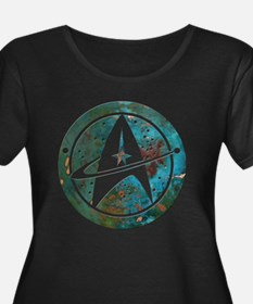 Star Trek logo Steam Punk Copper Plus Size T-Shirt