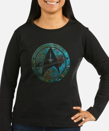 Star Trek logo Steam Punk Copper Long Sleeve T-Shi