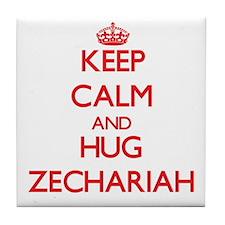 Keep Calm and HUG Zechariah Tile Coaster