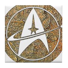 Hammered Copper Star Trek Tile Coaster