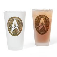 Hammered Copper Star Trek Drinking Glass