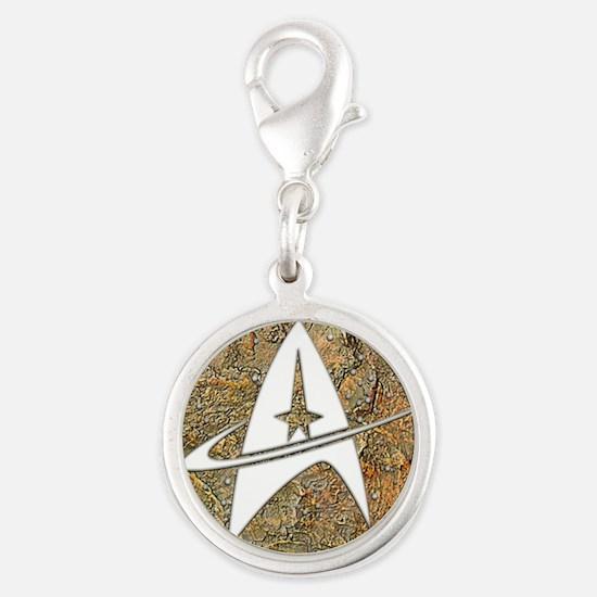 Hammered Copper Star Trek Charms