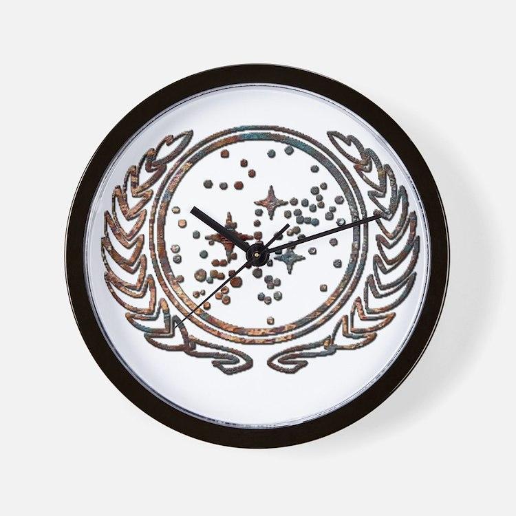 Copper Federation Logo Wall Clock