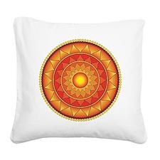mandala Square Canvas Pillow