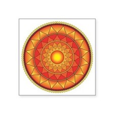 "mandala Square Sticker 3"" x 3"""