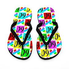 60TH BUTTERFLY Flip Flops